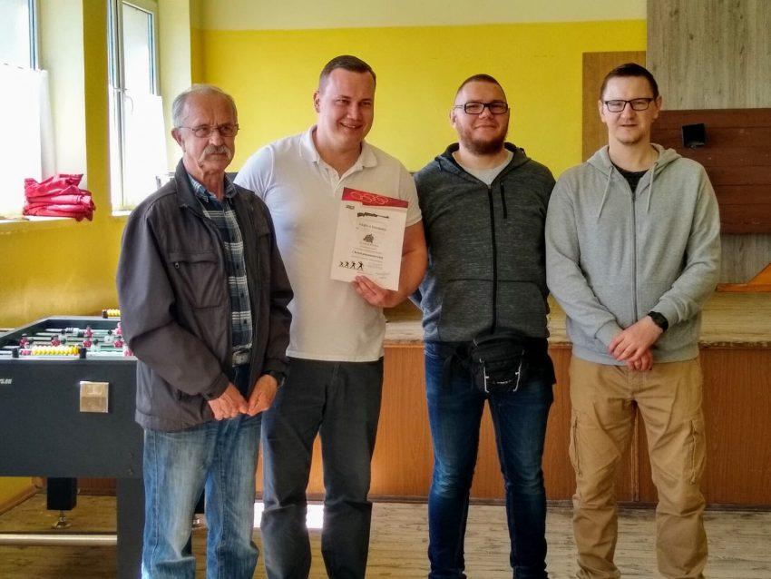 Od lewej: Waldemar Stankiewicz, Bartosz Sobczak, Łukasz Olborski i Michał Kowalski