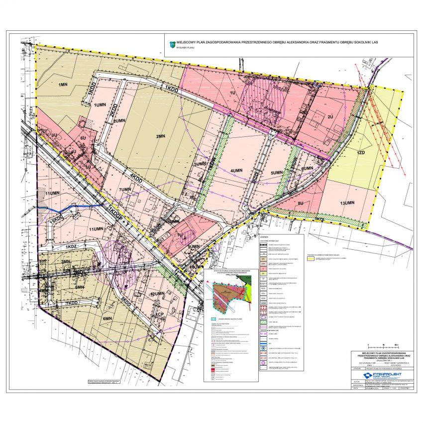 Miejscowy plan zagospodarowania przestrzennego obrębu Aleksandria oraz fragmentu obrębu Sokolniki Las - RYSUNEK PLANU
